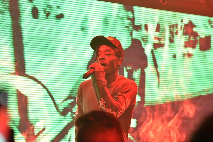 Lil Uzi Vert performs onstage during The Points Guy Presents TPG Soundtracks Pre-Grammy Party With Lil Uzi Vert on January 23, 2018 in New York City
