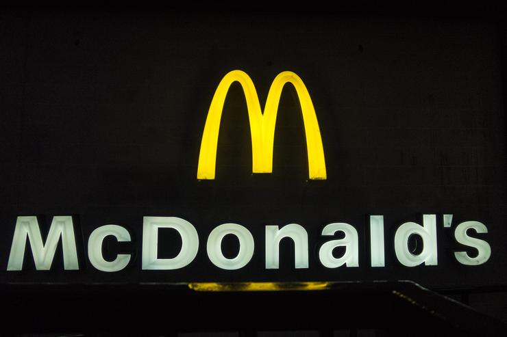 A branch of McDonald's is pictured on February 19, 2018 in Bath, England. The number of takeaway restaurants has increased significantly in the last few years and this has raised concerns that this can lead to over-consumption in cheap, unhealthy high-fat nutrient-poor food and drink leading to higher body weight and greater risk of obesity.
