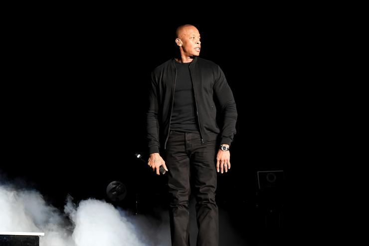 Dr. Dre performs onstage during the Bad Boy Family Reunion Tour at The Forum on October 4, 2016 in Inglewood, California