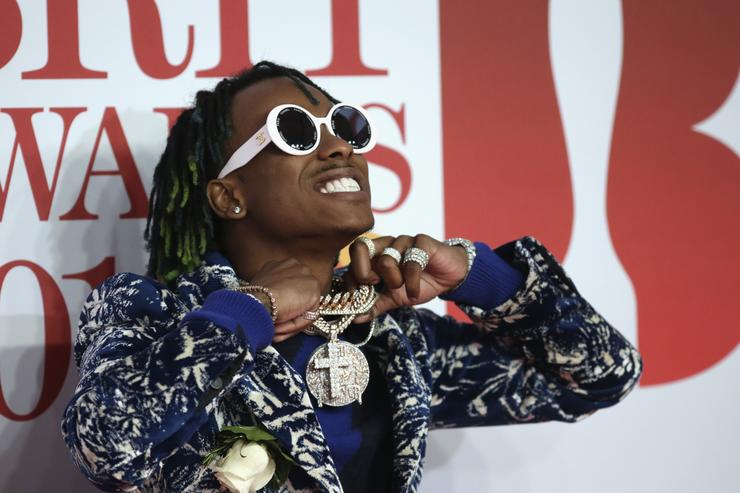 Rich the Kid attends The BRIT Awards 2018 held at The O2 Arena on February 21, 2018 in London, England