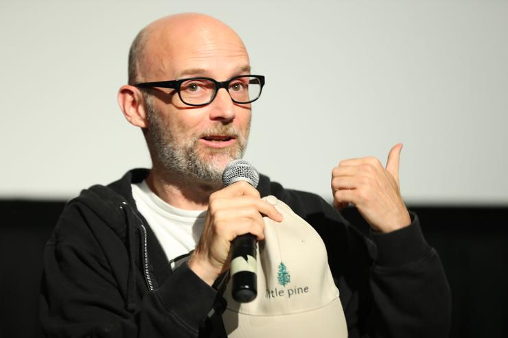 Moby speaks onstage during the 'What We Started' Film Premiere at the LA Film Festival on June 15, 2017 in Santa Monica, California.