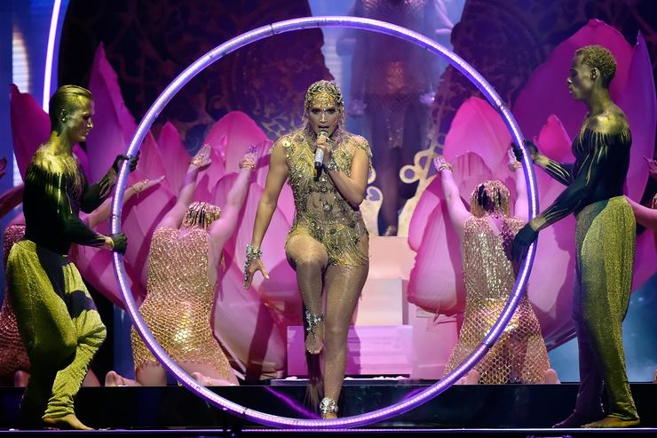 Jennifer Lopez performs onstage at the 2018 Billboard Latin Music Awards at the Mandalay Bay Events Center on April 26, 2018 in Las Vegas, Nevada.
