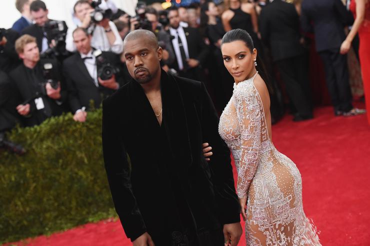 Kanye West (L) and Kim Kardashian attend the 'China: Through The Looking Glass' Costume Institute Benefit Gala at the Metropolitan Museum of Art on May 4, 2015 in New York City