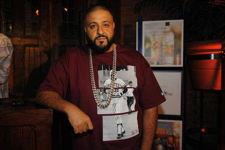 DJ Khaled attends UrbanDaddy Presents Grey Goose Le Melon Fruit Of Kings - New York City on August 13, 2014 in New York City