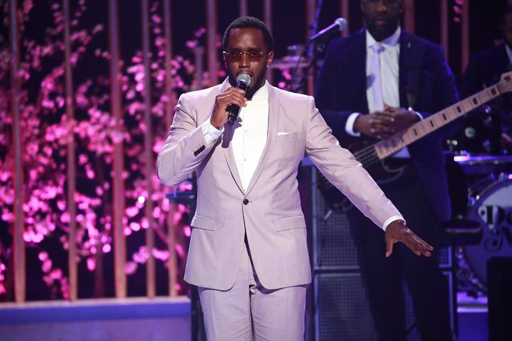 Sean Combs speaks onstage during VH1's 3rd Annual 'Dear Mama: A Love Letter To Moms' - Inside Show at The Theatre at Ace Hotel on May 3, 2018 in Los Angeles, California