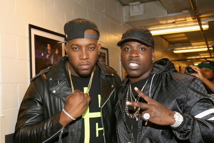 Pvnch and rapper Casanova pose backstage during Power 105.1's Powerhouse 2016 at Barclays Center on October 27, 2016 in New York City.