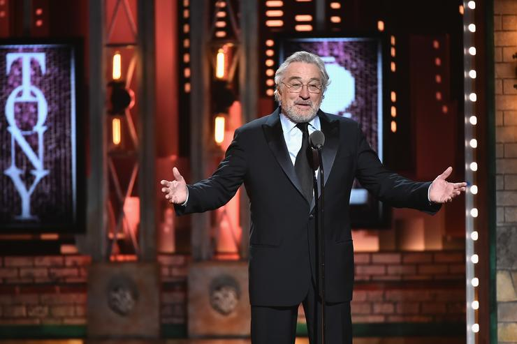 Robert De Niro bleeped at Tonys for Trump F-bomb