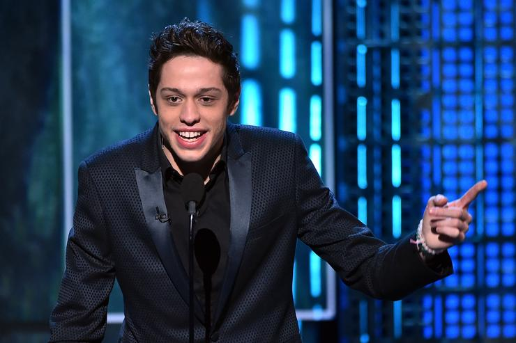 Pete Davidson speaks onstage at The Comedy Central Roast of Justin Bieber at Sony Pictures Studios on March 14, 2015 in Los Angeles, California