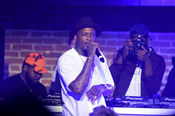Rapper YG performs during adidas Be The Difference LA on July 15, 2015 in Los Angeles, California.