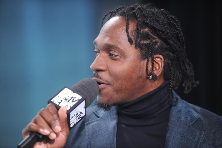 Pusha T speaks during MTV News Election Night: 'The People's Playhouse' at MTV Studios on November 8, 2016 in New York City
