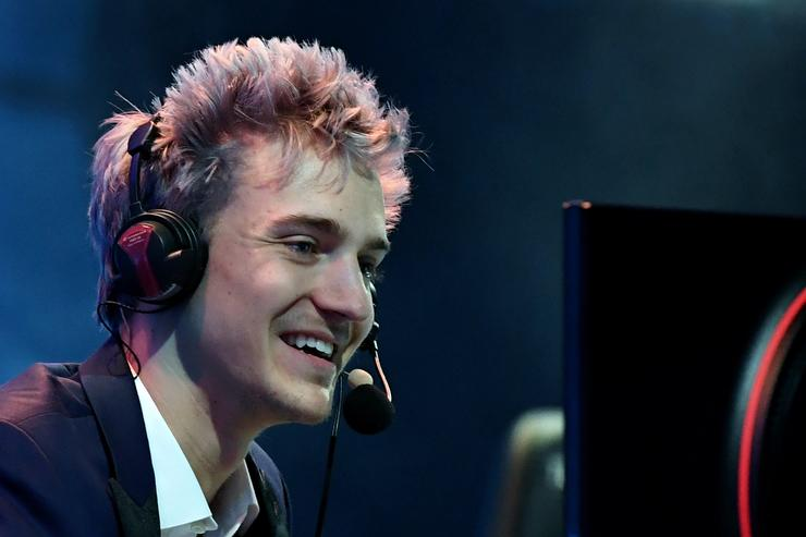 Twitch streamer and professional gamer Tyler 'Ninja' Blevins streams during Ninja Vegas '18 at Esports Arena Las Vegas at Luxor Hotel and Casino on April 21, 2018 in Las Vegas, Nevada