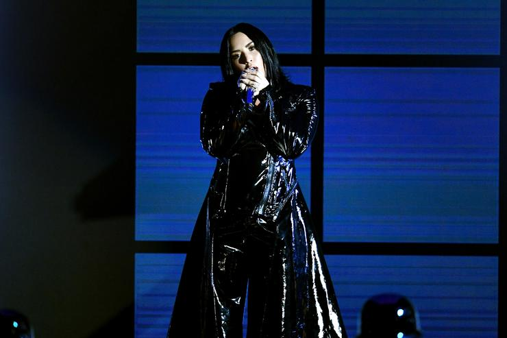 Demi Lovato performs onstage during the 2018 Billboard Music Awards at MGM Grand Garden Arena on May 20, 2018 in Las Vegas, Nevada