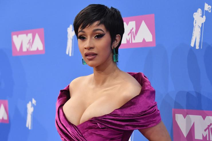 Cardi B attends the 2018 MTV Video Music Awards at Radio City Music Hall on August 20, 2018 in New York City