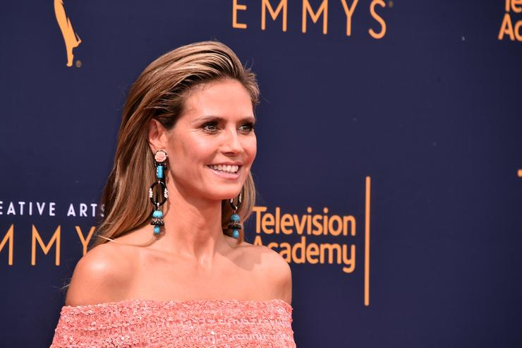 Heidi Klum attends the 2018 Creative Arts Emmys Day 2 at Microsoft Theater on September 9, 2018 in Los Angeles, California