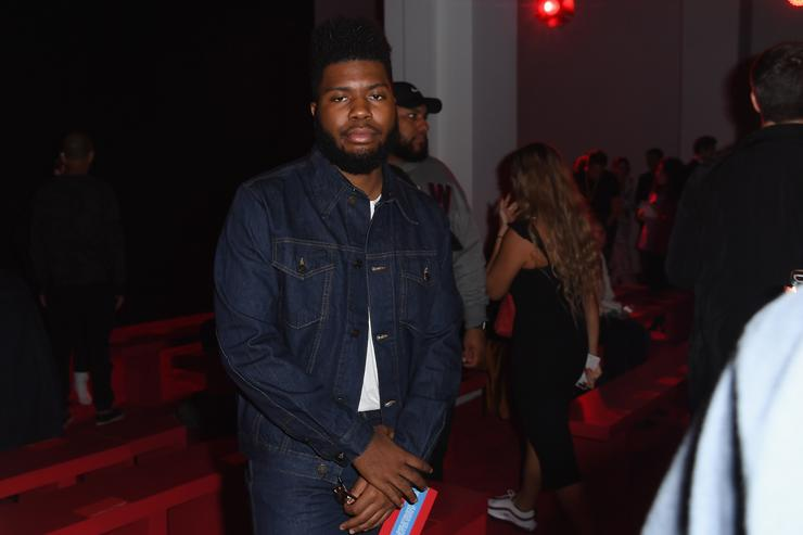 Khalid attends the Calvin Klein Collection front Row during New York Fashion Week at New York Stock Exchange on September 11, 2018 in New York City