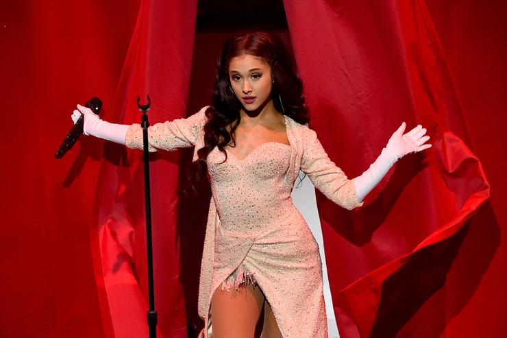 Ariana Grande performs onstage during the 2015 American Music Awards at Microsoft Theater on November 22, 2015 in Los Angeles, California