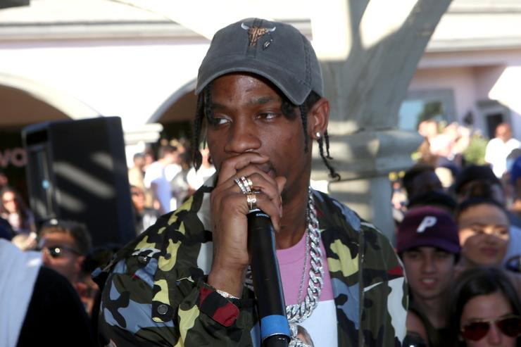 Travis Scott performs at REVOLVE Desert House on April 17, 2016 in Thermal, California