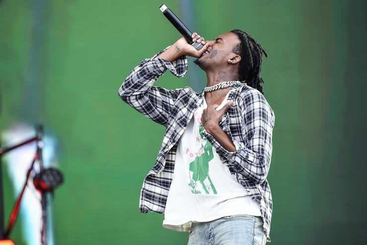 Playboi Carti performs on the Main Stage on Day 3 of Wireless Festival 2018 at Finsbury Park on July 8, 2018 in London, England