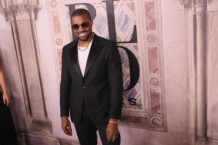 Kanye West attends the Ralph Lauren fashion show during New York Fashion Week at Bethesda Terrace on September 7, 2018 in New York City
