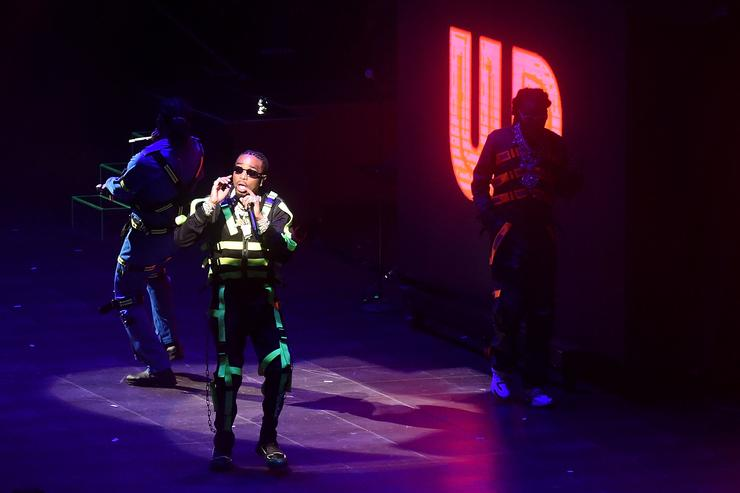 Quavo,Takeoff and Offset of Migos performs onstage at Madison Square Garden on August 25, 2018 in New York City