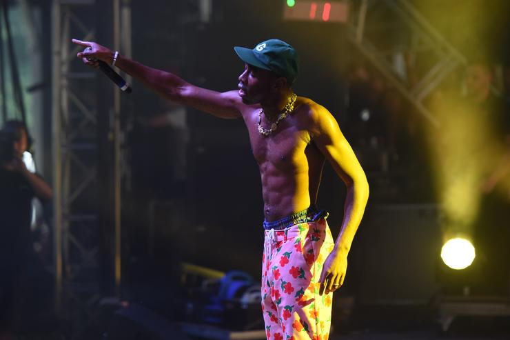 Tyler, The Creator performs on the Pavilion stage during the 2017 Panorama Music Festival at Randall's Island on July 28, 2017 in New York City