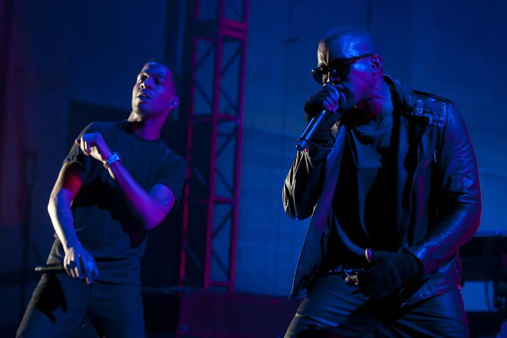 Kid Cudi and Kanye West perform during VEVO Presents: G.O.O.D. Music at VEVO Power Station on March 19, 2011 in Austin, Texas