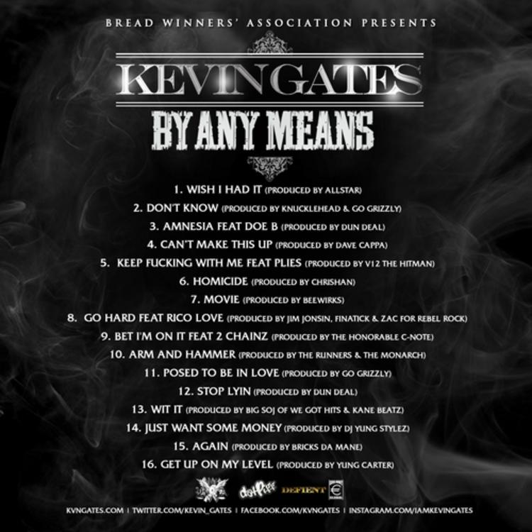 kevin gates by any means 2 tracklist