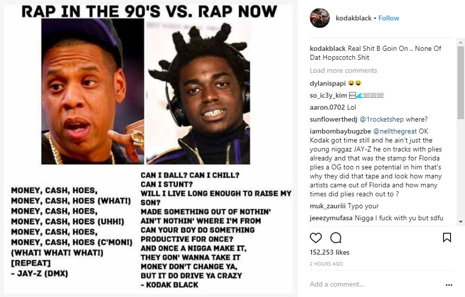 Kodak Black Clowns Jay Zs Lyrics 90s Rap Says Real St B Goin