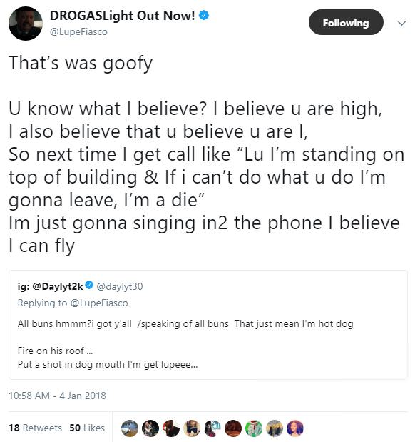 Lupe Fiasco & Daylyt Engage In A Spontaneous Twitter Rap Battle