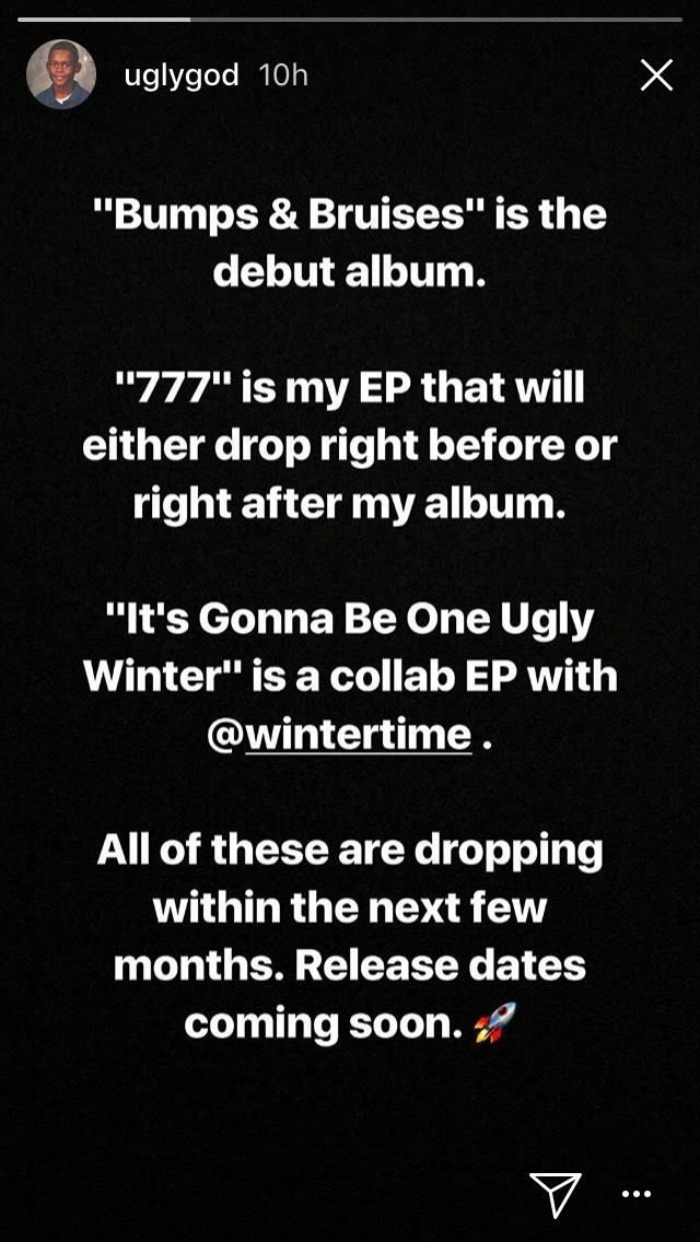 Ugly God Announces 3 New Projects On The Way