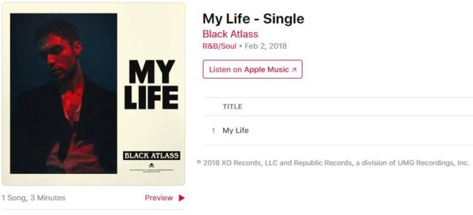 Did The Weeknd Sign R&B Singer Black Atlass To XO Records?