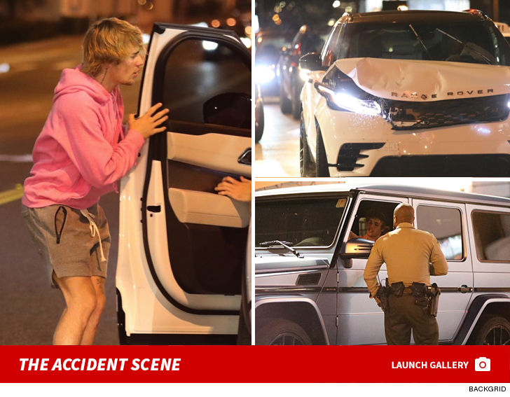 Justin Bieber Involved In Car Accident In West Hollywood