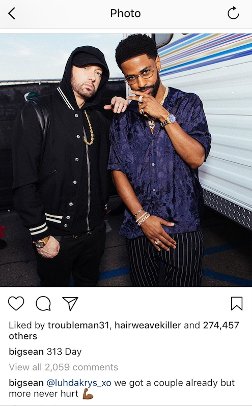 Eminem & Big Sean Have More Collaborations On The Way