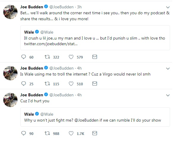 joe budden may or may not want to fight wale i d hurt you
