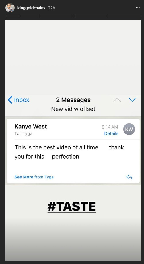 """Kanye West Counts Tyga's """"Taste"""" Among The Best Videos Of All Time"""