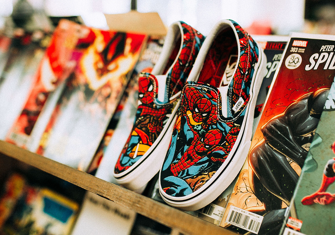 Spiderman Slip On Shoes