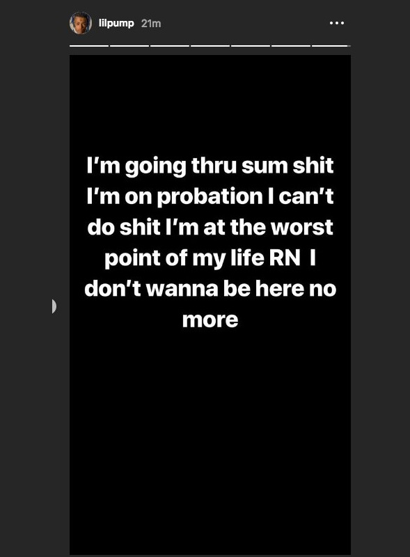 Lil Pump Posts Disturbing Cry For Help On His IG Story