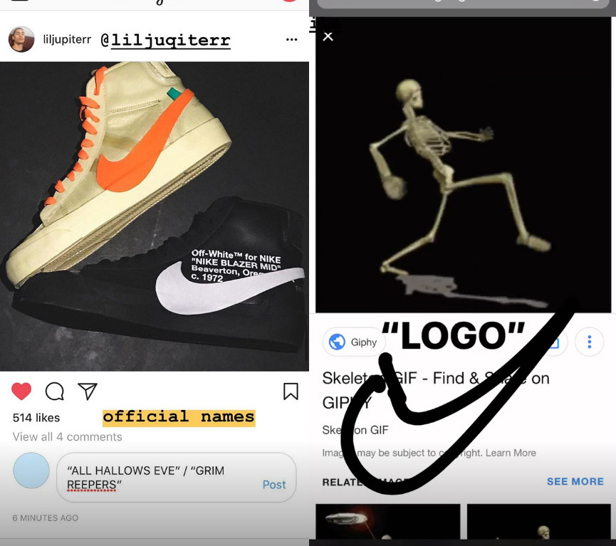 Virgil Abloh Confirms Halloween Themed Off White X Nike Blazers