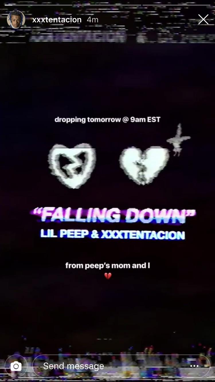 "XXXTENTACION And Lil Peep's Collaboration ""Falling Down MP3"" Drops Tomorrow"