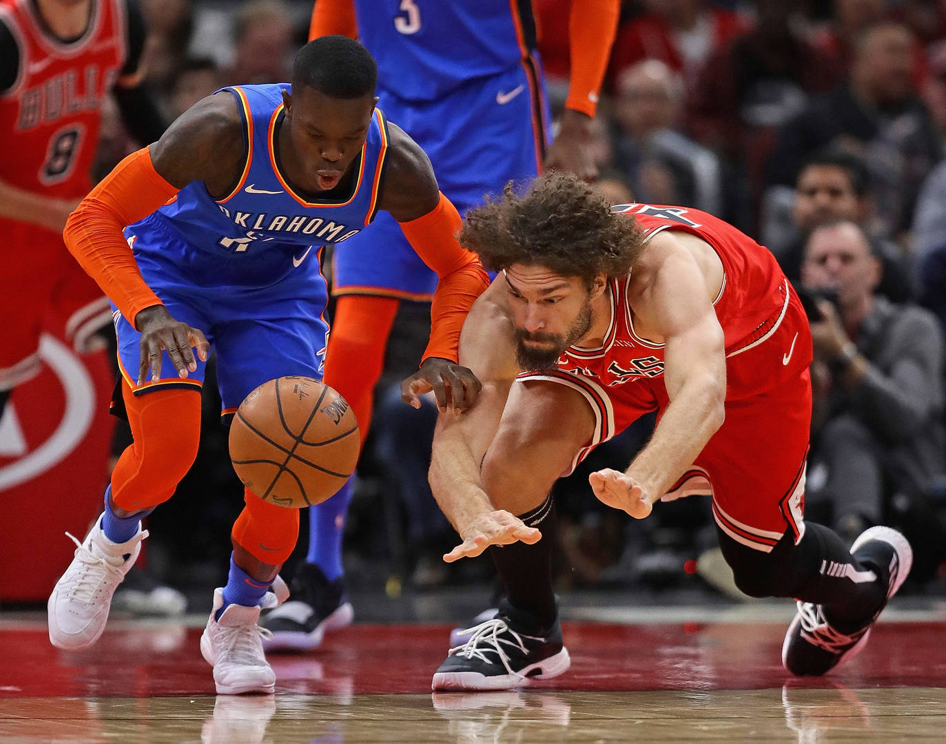 GettyImages 1079309910 - Russell Westbrook, Kris Dunn, Robin Lopez, & More Involved In Scuffle (Photos)