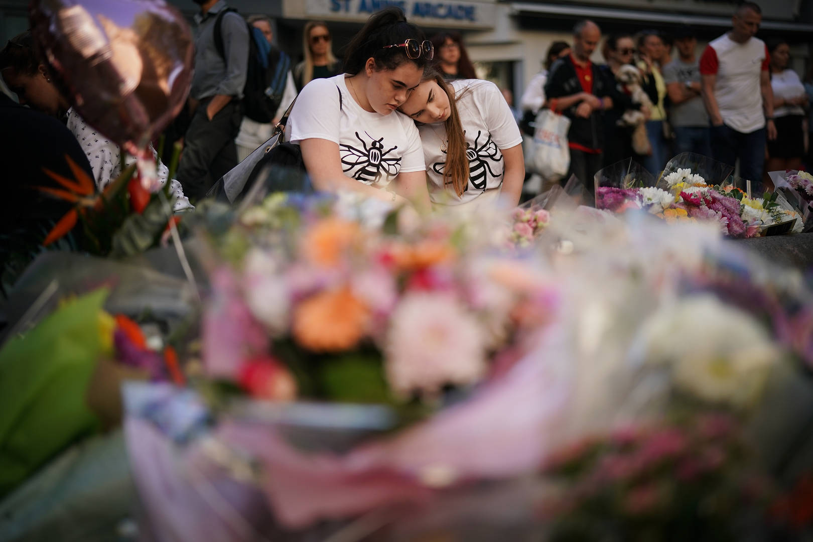 Mourners at 1st Anniversary of the Manchester Bombing