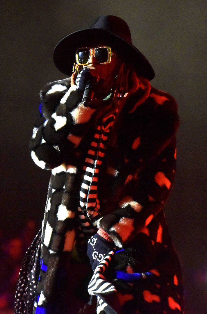 Lil Wayne Clowned For Hamburglar Outfit During Imagine Dragons