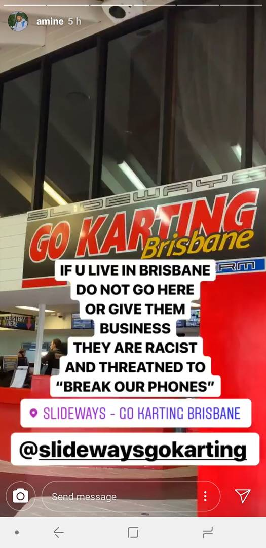 Amine Says He Experienced Racism At Go-Karting Business In Australia