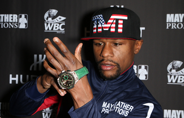 Floyd Mayweather Shows Off $18M Watch And Other Luxury Timepieces