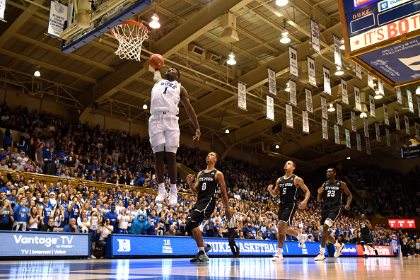 Duke's Zion Williamson catalogs one other ridiculous rim-rocker