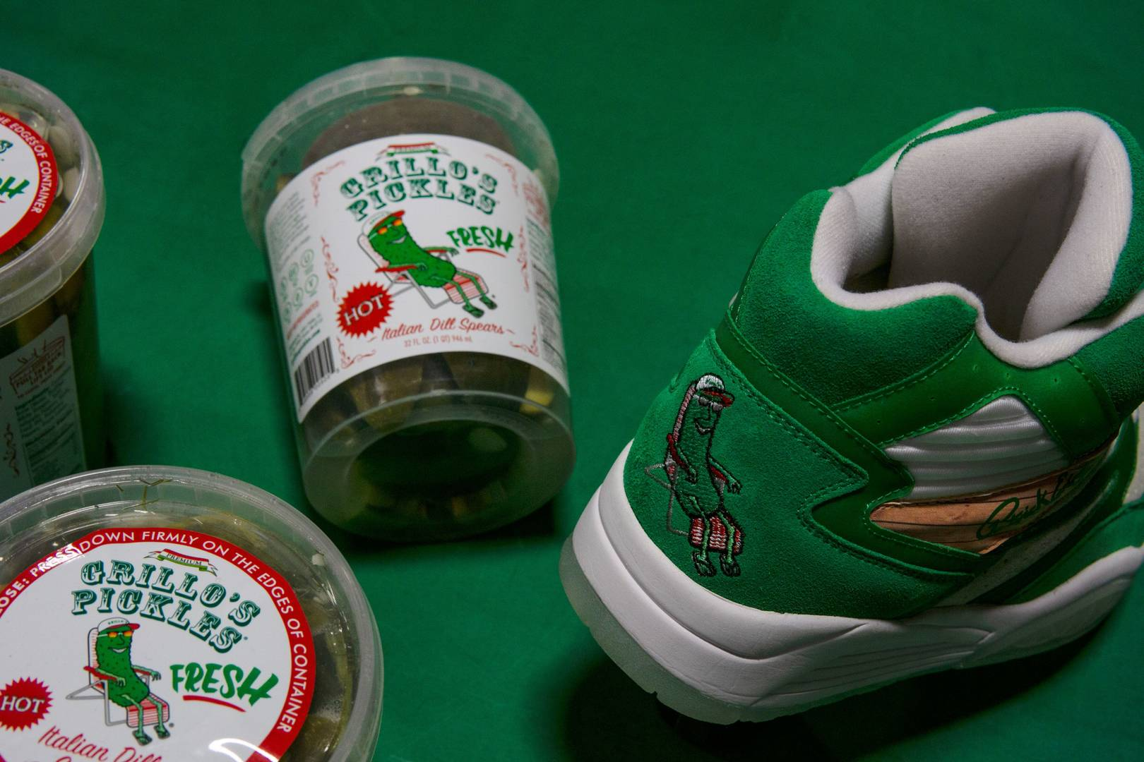 """Ewing Athletics x Grillo's Pickles Collab: """"The Pickle"""" Ewing Sport Lite"""