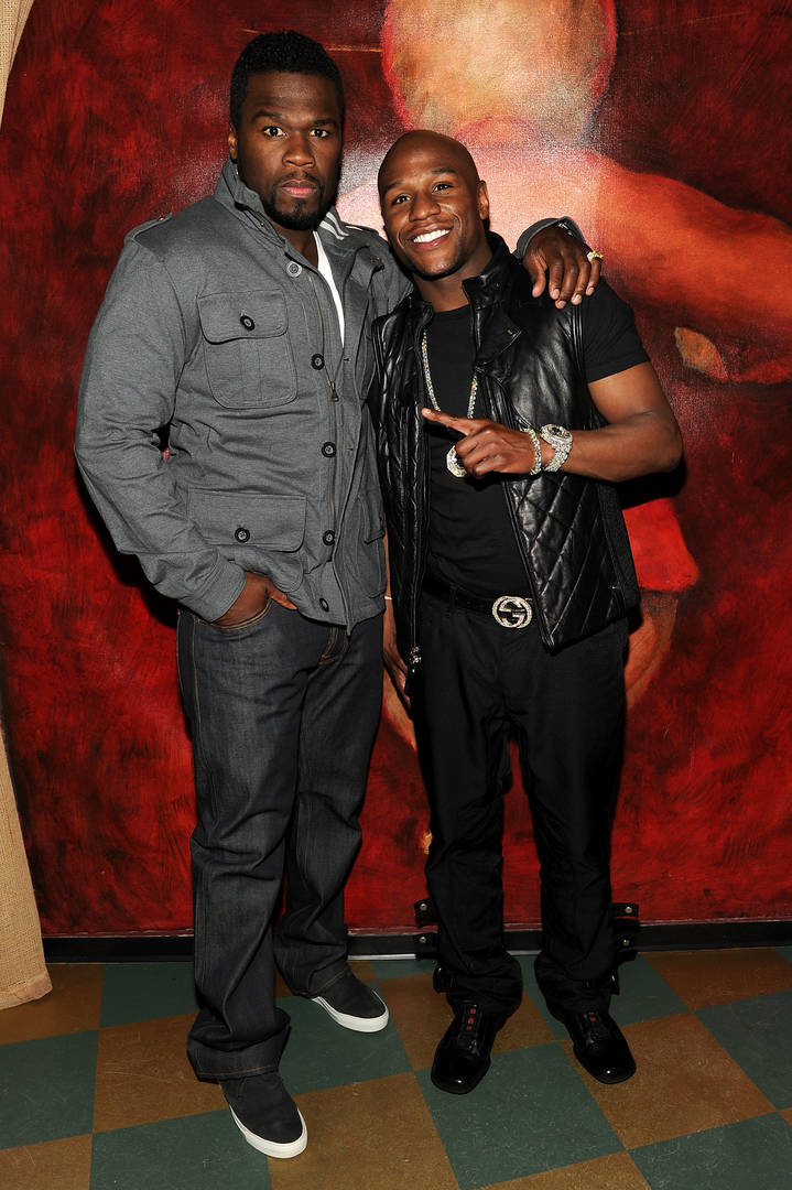50 Cent Clowns Floyd Mayweather With Mary J. Blige Lookalike Photo