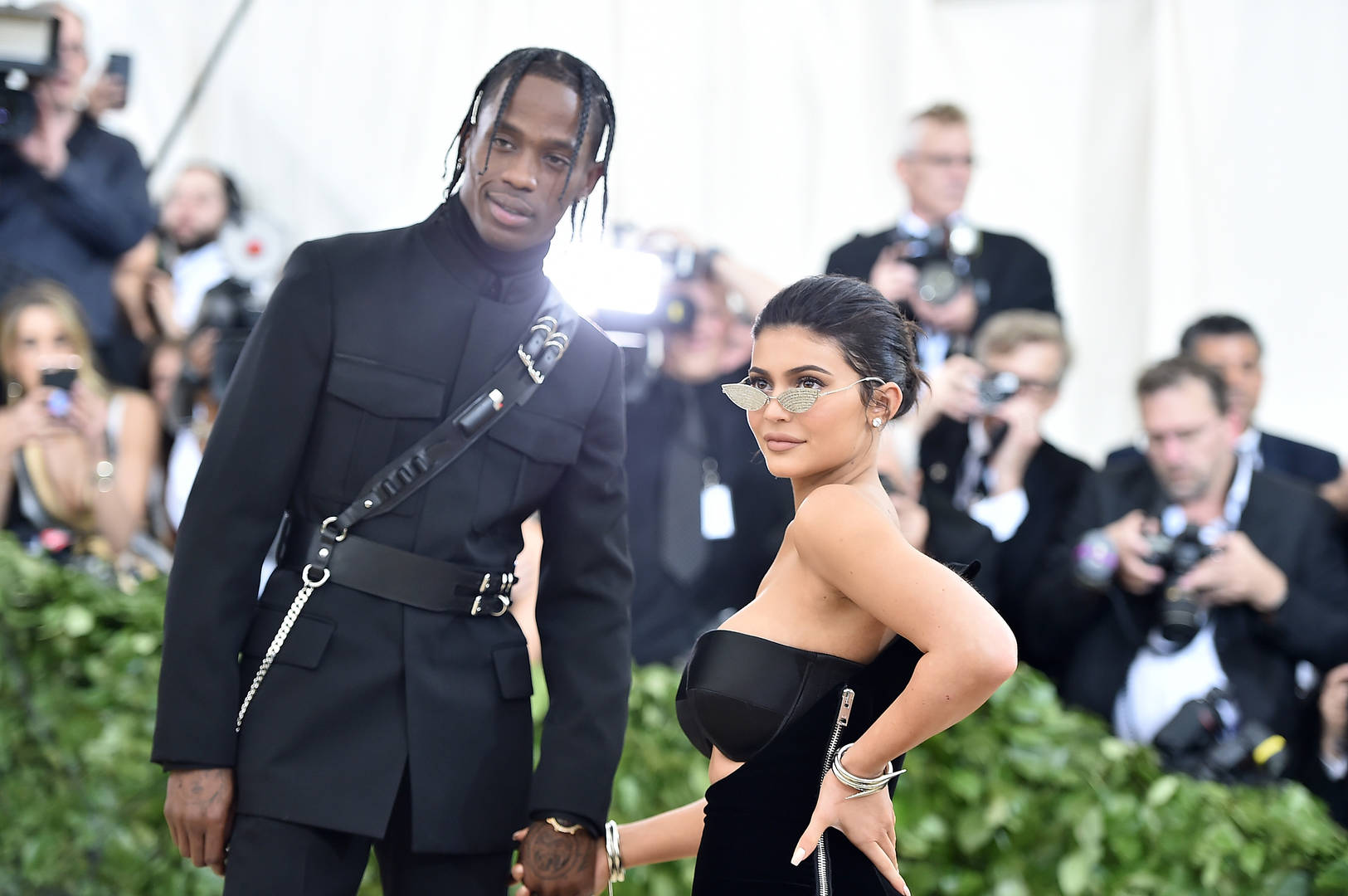 Stormi Webster watches Travis Scott's Super Bowl Halftime show