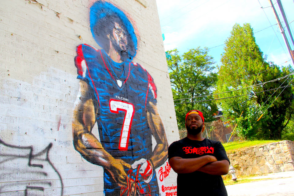 Colin Kaepernick Mural Destroyed In Atlanta Days Before Super Bowl