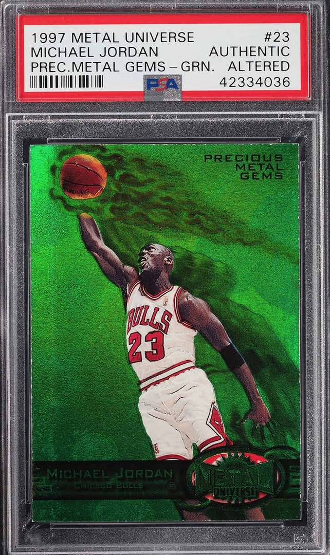 04e8baf20c9 Rare 1997 Michael Jordan Basketball Card Sells For Record Amount On eBay